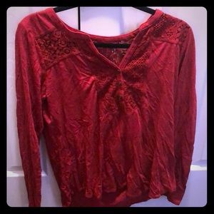 Lucky brand red shirt
